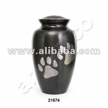 Paw Print Brass Pet Urns