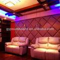 Fibra de vidro placa de controle noice tecido enrolado painéis de parede/insonorização acústica diso painel de parede de tela placa acústica
