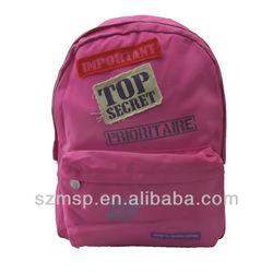funny patch top secret school bag/girls backpack/satchel for kids