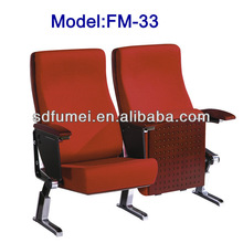 FM-33 Commercial theater furniture seating with writing table