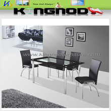 4 seater glass dining table modern dining room furniture table and chair for sale