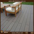 Recicláveis anti- escorregamento de madeira plástica decking de wpc