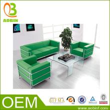 China Latest Design Leather Office Living Room Furniture Sofa