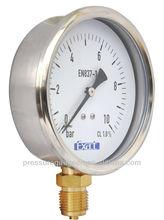 bourdon tube hydraulic pressure gauge manufacturer