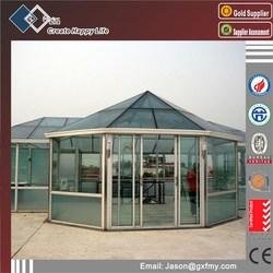 fashion model high energy-efficient aluminum glass panels for sunroom designs