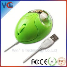 Gifts for promotion and christmas 3d optical liquid mouse for computer from years exported factory