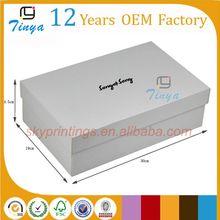 White cheap plain cardboard shoe boxes bulk