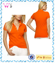 Plain fit mercerized summer cotton girls xx golf shirts