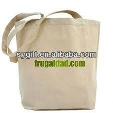 handmade organic canvas tote bag plain