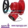 Flange inlet Oblique fire hydrant valves