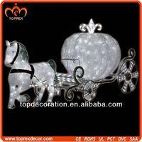 Giant santa sleigh horse carriage decoration