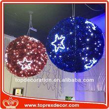 3D Hanging tinsel led decorating christmas ball