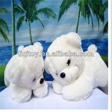 Cute white soft plush teddy bear toy