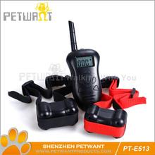 100 lv lcd shock + vibra remote no bark pet dog training collar