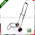 Pooyo cromo plateado de la carretilla plegable carrito de equipaje 55zd-pu