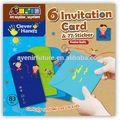6 parte tarjeta de invitación y etiqueta 77( multi- propósito)- juegos de diversión para los niños