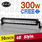 4x4 curved high power 288w 52 inch offroad car led light bar