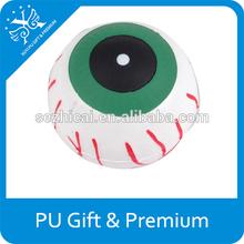promotion pu eye stress balls customized pu foam eye pu foam antistress eyes