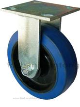 Heavy Duty Soft Rubber Fixed Industrial Caster Wheel