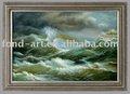 Paisaje marino pintura al óleo enmarcada
