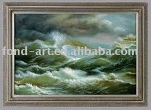 Seascape framed oil painting