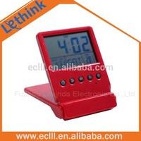 Hot selling cheap Lcd calendar clock,flip carrying clock