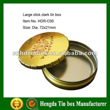 Click Clark Tin Can for Packing Mint and candy