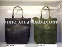 classical Crocodile tall tote_real crocodile leather bag_animal skin bag