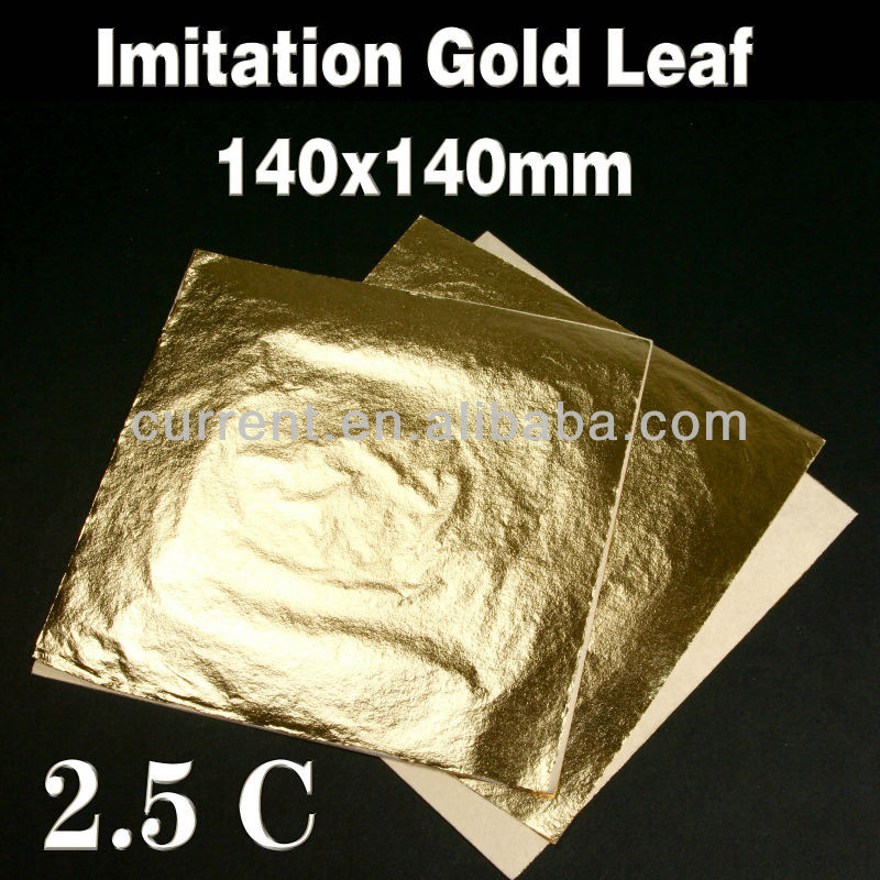 high quality Imitation gold leaf with interleaf 14x14 cm