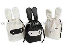 Personalized Rabbit Gift Bag Drawstring cotton Bag 2015