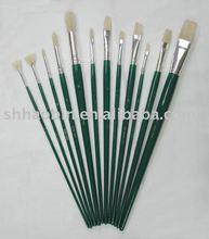 Nickel-plated Brass Ferrule Artist Natural Bristle Paint Brushes Set