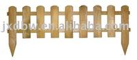 wooden picket fence edging for garden