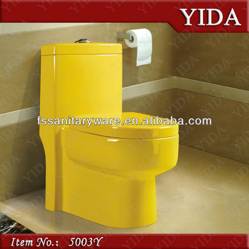 Hice Del Baño Color Amarillo:Colored Toilet Bowls