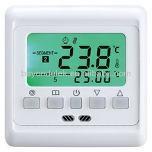 Electric thermostat for floor heating with Weekly programmable