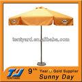 centro plegable de aluminio poste paraguas al aire libre con la base