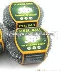 steel scrubber,sponge cleaning ball, mesh scrubber/scourer