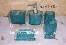 LANBOR light blue bathroom five pieces accessories JP009