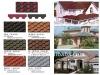 fiberglass reinforced colored asphalt shingle and waterproof roofing tile