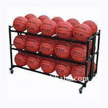 S6243 steel double 3 tier basketball storage rack