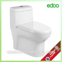 EDOO Best selling ivory color toilet sanitary ware siphonic one piece toilet ivory color toilet