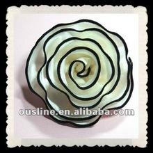 fashion party satin flower corsage;flower hair ornament,fabric flower