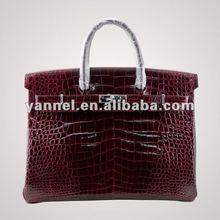 Luxury shiny crocodile belly brikin bag_shiny crocodile brikin tote bag