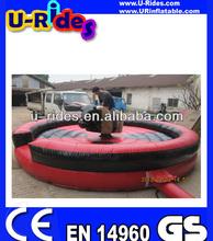 Red black mat bull rodeo mechanic bull rodeo