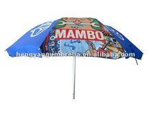200g polyester beach umbrella, waterproof umbrella, aluminum pole umbrella