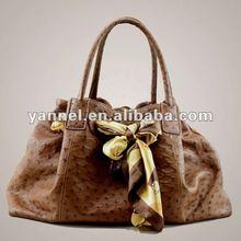 Women Ostrich skin tote ,fashion exotic skin handbag