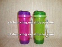 PP Plastic leakproof tea cup /double wall mug / water bottle