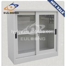 ikea design metal furniture office sliding door display cupboard