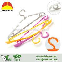 Factory wholesale Environmental plastic hanger, Plastic clothes hanger, free sample cheap price hanger