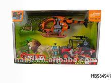 crizzly rescue play set, children adventure toys, wild animal park