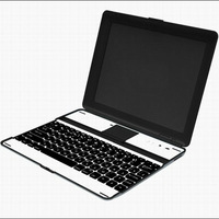 Bluetooth 3.0 Keyboard Aluminum Ultra Thin Protective Case + Super Mate for the new ipad 2 3 4 KKB004